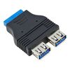USB3.0 to 2xUSB (female) motherboard internal adapter
