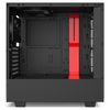 NZXT H510i Mid Tower ATX Case, no PSU, window side, black-red (CA-H510I-BR)