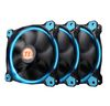 Thermaltake Riing 12 LED BLUE (3-Fan Pack), (CL-F055-PL12BU-A), 120mm, 1000-1500rpm, 24.6dB max, 3Pin