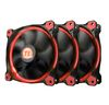 Thermaltake Riing 12 LED RED (3-Fan Pack), (CL-F055-PL12RE-A), 120mm, 1000-1500rpm, 24.6dB max, 3Pin