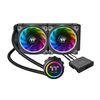Thermaltake Floe Riing RGB 240 TT Premium Edition, water cooling system, Intel LGA 2066/2011-3/2011/1366/1156/1155/1151/1150, AMD TR4/AM4/FM2/FM1/AM3+/AM3/AM2+/AM2, 2x120mm fan, 500-1400rpm, 19.8-24.7dBA max, 5pin (CL-W157-PL12SW-A)