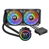 Thermaltake Floe DX RGB 240 Premium Edition, liquid cooler system, Intel LGA 2066/2011-3/20112066/2011-3/2011/1366/1156/1155/1151/1150, AMD AM4/FM2/FM1/AM3+/AM3/AM2+/AM2, 2x120mm fan, 500-1500rpm, 19-23.9dBA (CL-W255-PL12SW-A)
