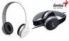 Genius HS-M430, Headset with In-line microphone, black/white