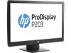 "20"" HP ProDisplay P203 (X7R53AA), LED, 16:9, 1600x900, 250cd/m2, 1000:1, 5ms, VGA/DP, Black"