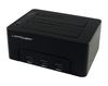 "LC Power LC-DOCK-U3-HUB, External dock for 2x2.5/3.5"" SATA HDD/SSD with 3xUSB3.0 hub, USB3.0"
