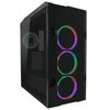 "LC POWER Gaming 998B Rambot, ATX, 5x3.5"", 3x2.5"", 4x120mm RGB fans, Audio/USB3.0, tempered glass side panel"