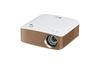 LG PH150G, Minibeam, 1280x720, 130 ANSI Lumens, 100.000:1, 22-29db, 460g, Built-in Battery