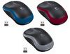 Logitech M185, Wireless Mouse, micro USB receiver, blue/red/grey