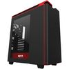 NZXT H440 Mid Tower ATX Case, no PSU, window side, black-red (CA-H442W-M1)