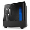 NZXT H500 Mid Tower ATX Case, no PSU, window side, black-blue (CA-H500B-BL)