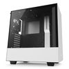 NZXT H500 Mid Tower ATX Case, no PSU, window side, white (CA-H500B-W1)