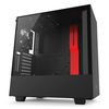 NZXT H500i Mid Tower ATX Case, no PSU, window side, black-red (CA-H500W-BR)