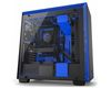 NZXT H700i Mid Tower ATX Case, no PSU, window side, black-blue (CA-H700W-BL)