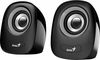 Genius SP-Q160, 2.0 speaker system, 2x3W RMS, USB, black-silver