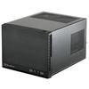 SilverStone Sugo SG13B-Q, SFF, Mini-ITX, plastic front panel with faux aluminum finish, Black [24]