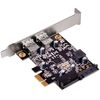 SilverStone EC04-E, PCI express card 4 x USB 3.0 (2 x external + 1 x dual port internal connector)