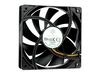 SilverStone FN121-P, FN Series Fan 12cm, 25,15dBA, 9 blades, fixed speed, Black [24]