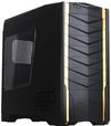 SilverStone RAVEN RV03B-W USB 3.0, Tower ATX, w/ window kit, 2 x AP181 included, Black with gold stripes [24]