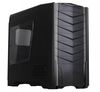 SilverStone RAVEN RV03B-WA USB 3.0, Tower ATX, w/ window kit, 2 x AP181 included, Black with steel-grey stripes [24]