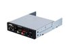 "SilverStone FP35B, 3.5"" card reader and front I/O combo, Aluminium, Black/Silver [24]"